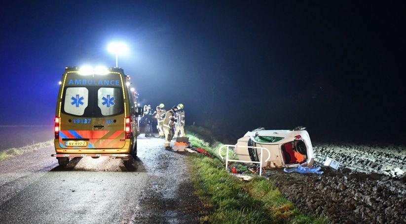 Beknelling bij ongeluk Drieweg Zaamslag.