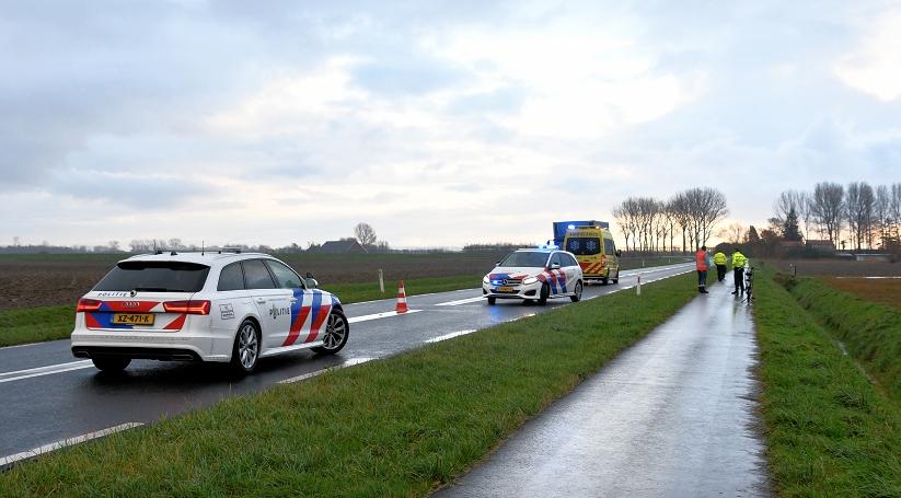 Fietsster gewond na ongeluk bij Lewedorp.
