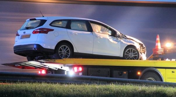 Schade bij ongeluk op A58 bij Waarde.