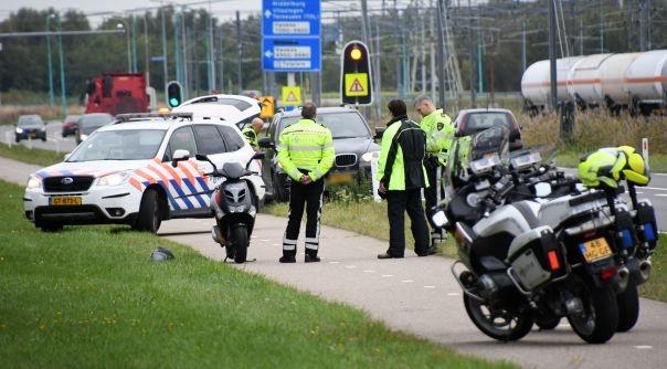 Fietser gewond bij ongeluk Nieuwdorp.