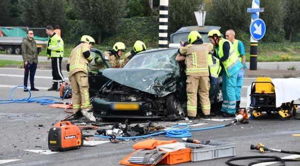 Beknelling bij ernstig ongeluk A58 Oost-Souburg.