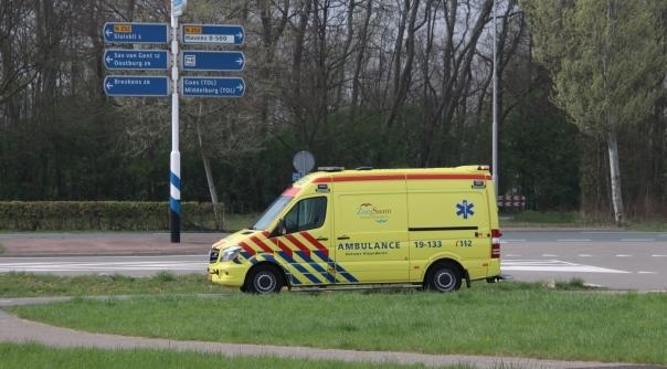 Scooterrijder gewond bij ongeluk Terneuzen.