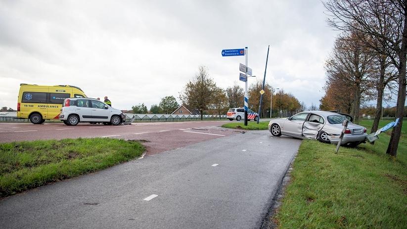 Gewonde bij ongeluk op kruising Sint-Annaland.