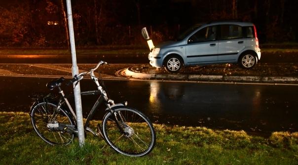 Fietser aangereden op rotonde Oranjeweg Goes.