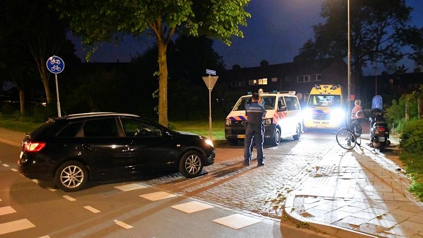 Meisjes op snorfiets aangereden in Vlissingen.