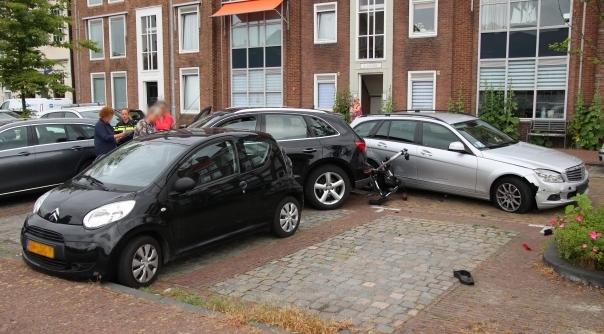 Drie auto's beschadigd bij ongeluk.