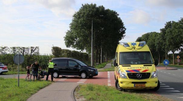 Fietsster gewond bij botsing s-Gravenpolder.