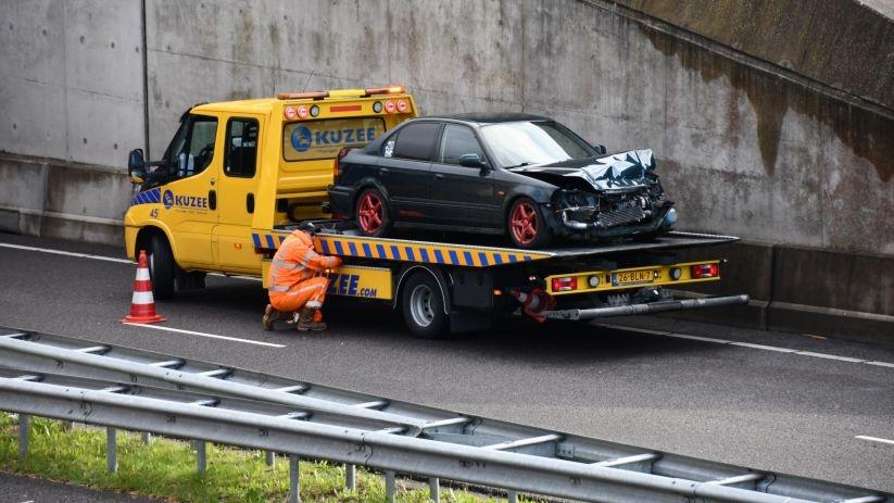 Auto getakeld na ongeval N57 Middelburg.