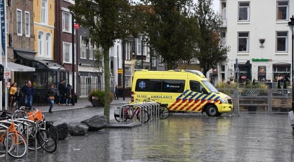 Gewonde bij ongeval centrum Vlissingen.