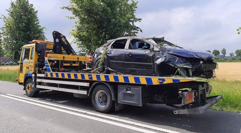 Gewonde bij eenzijdig ongeluk N666.