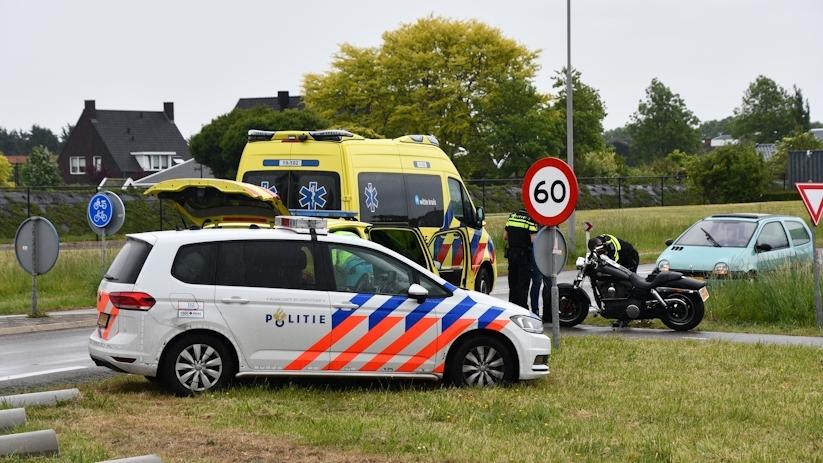 Motorrijder gewond na ongeluk bij s-Gravenpolder.