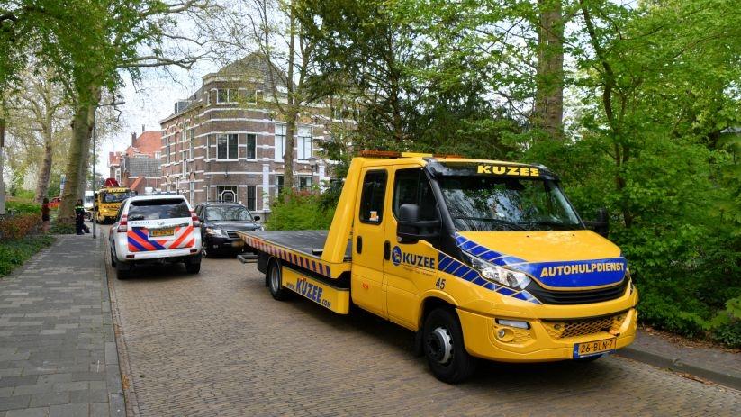 Autos weggesleept na botsing in Middelburg.