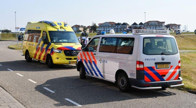 Wielrenner gewond bij botsing in Wemeldinge.