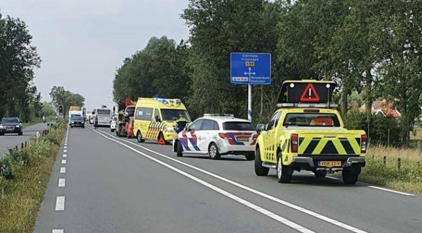Schade en letsel bij botsing N59 Nieuwerkerk.
