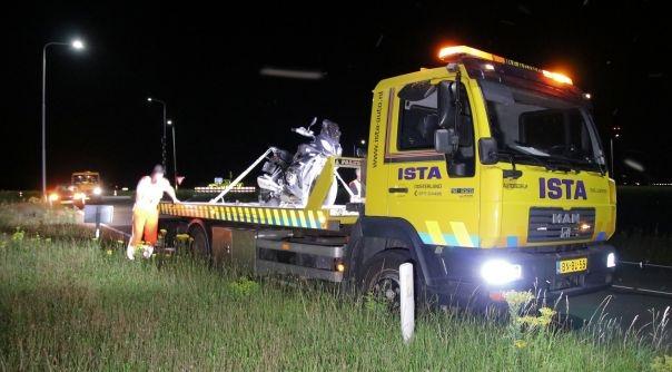 Motorrijder ongeluk N59 blies binnen de limiet.