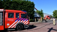 Grote brand in Rilland, brand in conifeer slaat over