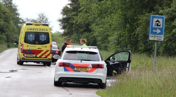Fietser gewond bij botsing met auto.