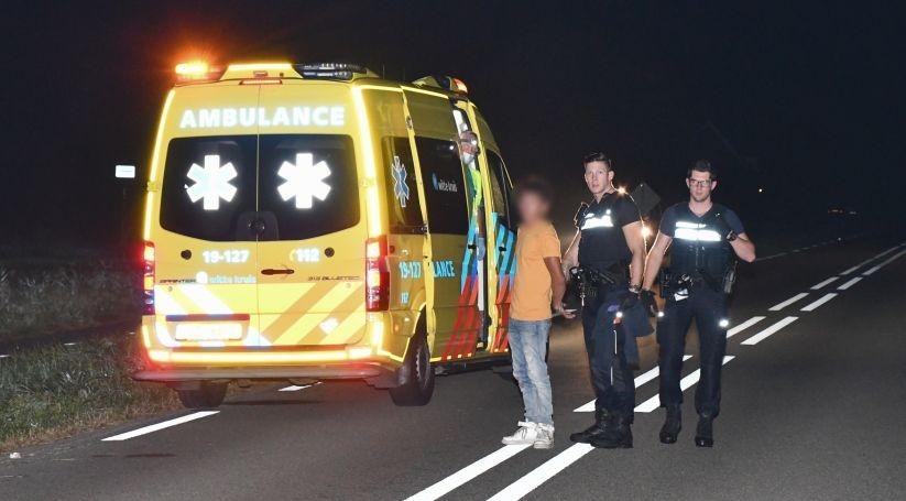 Ongeluk Veere: Passagier trok aan handrem.