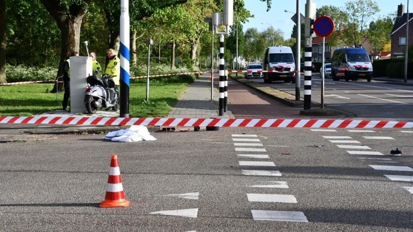 Forse aanrijding scooter en Marechaussee Vlissingen.
