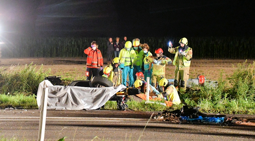Twee gewonden bij ernstig ongeluk in Tholen.