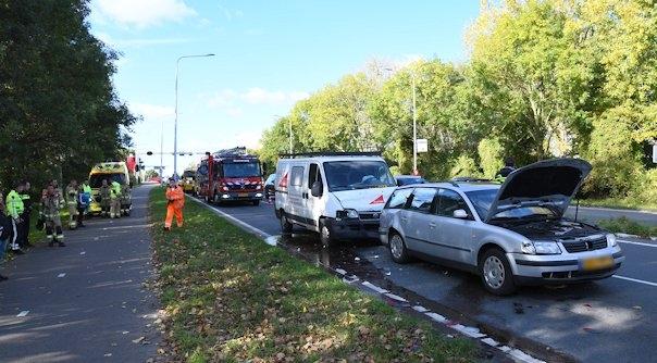 Gewonden bij ongeluk Sloebrug Vlissingen.