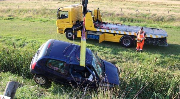 Gewonden bij auto-ongeluk Ossenisse.