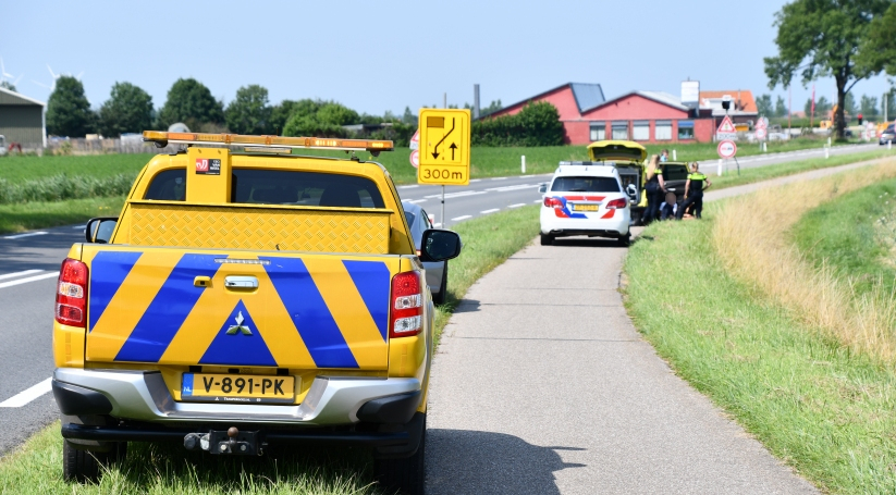 Scooterrijder gewond na ongeluk Lewedorp.