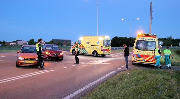 Twee gewonden bij botsing Tholen.