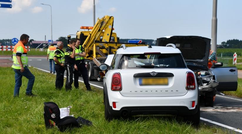 Twee gewonden bij frontale botsing Wissenkerke.