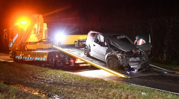 Veel schade bij eenzijdig verkeersongeval Nisse.