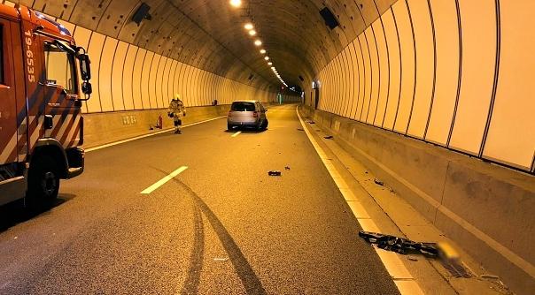 Sluiskiltunnel afgesloten na ongeval.
