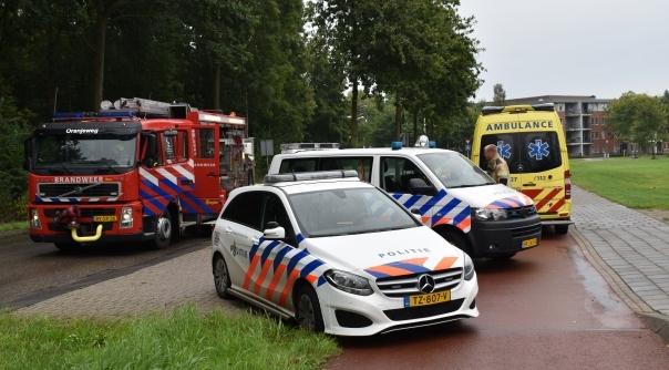 Brandweer helpt ambulancedienst Goes.
