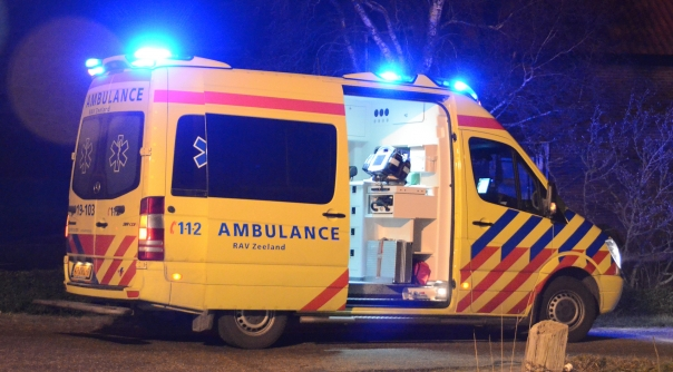 Auto doorgereden na ongeval letsel Goes.