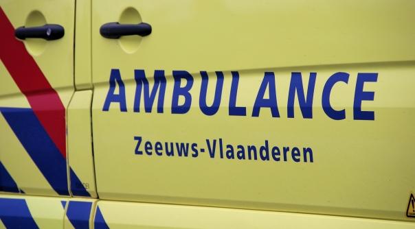 Ongevallen door oliespoor in Terneuzen.