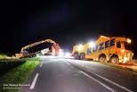 Vrachtwagen ongeluk N57 Burgh-Haamstede geborgen.
