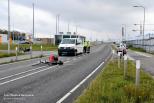 Fietser aangereden door taxibusje in Terneuzen.