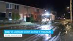 Bagger uit vrachtauto belandt op straat in Middelburg