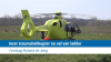 Inzet traumaheli na val van ladder