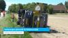 Vuilniswagen gekanteld bij Wolphaartsdijk (video)