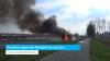 Bestelbus uitgebrand Westkade Sas van Gent