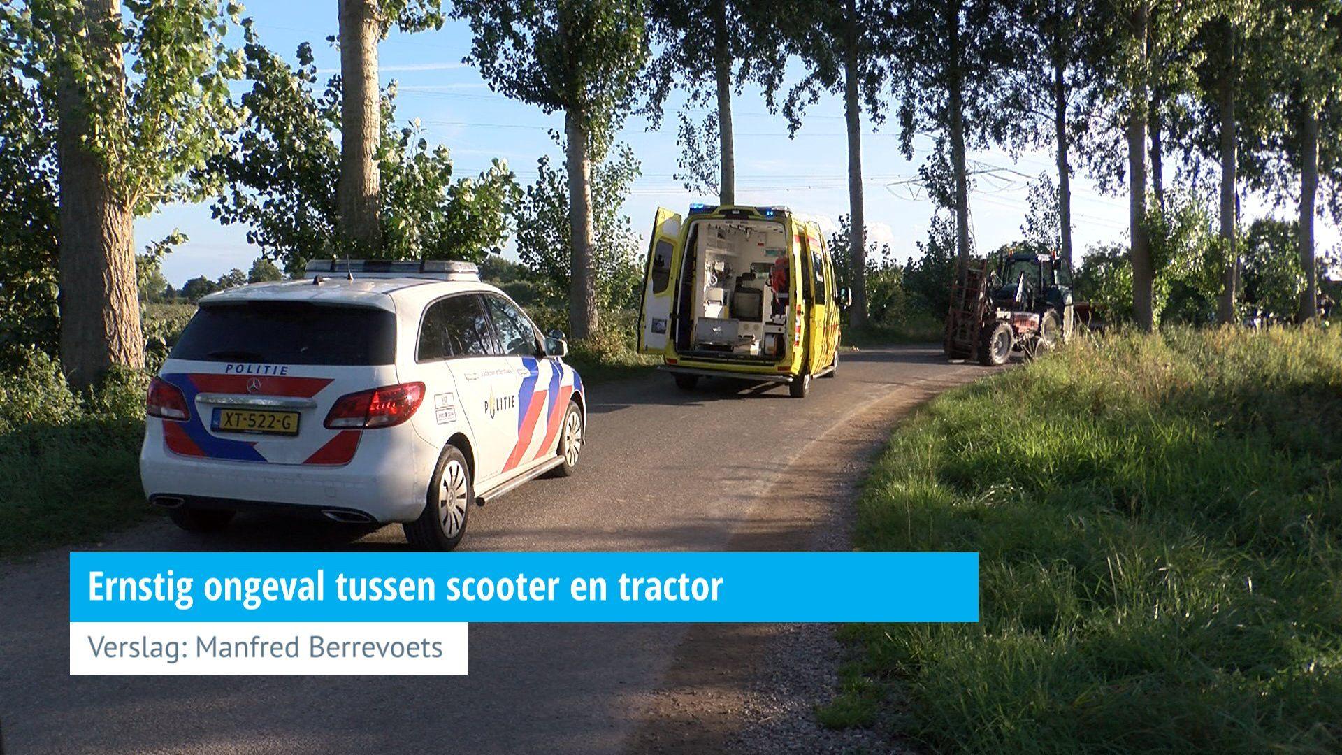 Ernstig Ongeval Tussen Scooter En Tractor Hvzeeland