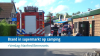 Brand in supermarkt op camping