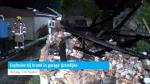 Explosies bij brand in garage IJzendijke